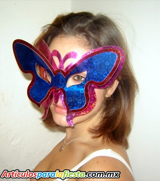 Antifaz de mariposas en foami - Imagui