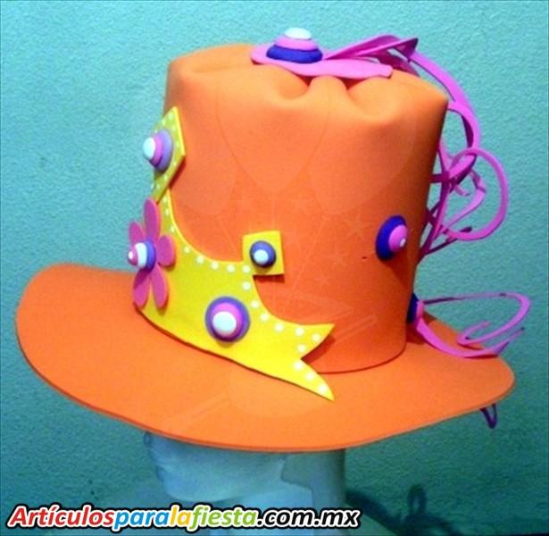 , Sombreros para fiestas de disfraces y batucada sombrero foami con